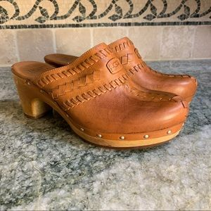 Ugg Australia 1957 Vivica Brown Leather Mules
